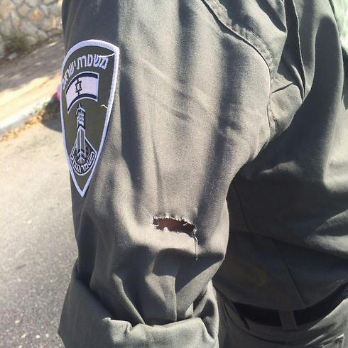 """שוטר מג""""ב שנפצע בפיגוע (צילום: חטיבת דובר המשטרה) (צילום: חטיבת דובר המשטרה)"""