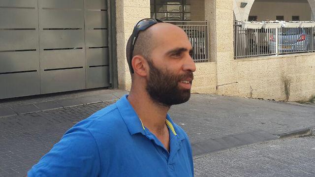 Uri Nuriel, who alerted Border Police of the attacker (Photo: Roi Yanovsky)