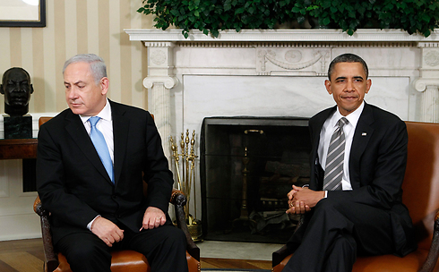 Netanyahu during a previous visit to the White House. (Photo: Reuters) (צילום: רויטרס)