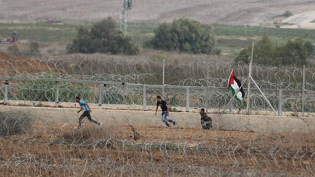Clashes on the Gaza border (Photo: Reuters)