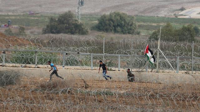 Clashes on the Gaza border (Photo: Reuters)