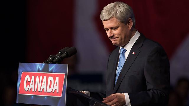 הודה בהפסדו. ראש ממשלת קנדה היוצא סטיבן הרפר (צילום: AP) (צילום: AP)
