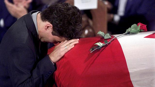 גרם לאנשים רבים לבכות מנאום ההספד שלו לאביו. טרודו ב-28 בספטמבר 2000 (צילום: רויטרס) (צילום: רויטרס)