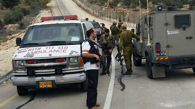 The scene of the incident. (Photo: Hebron Spokesperson)