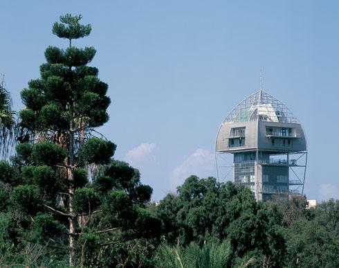 מגדל הגן ברמת גן, בשמו הרשמי שאף אחד לא משתמש בו. הפרויקט שמיתג את פיבקו יותר מכולם (צילום: יעל פינקוס)
