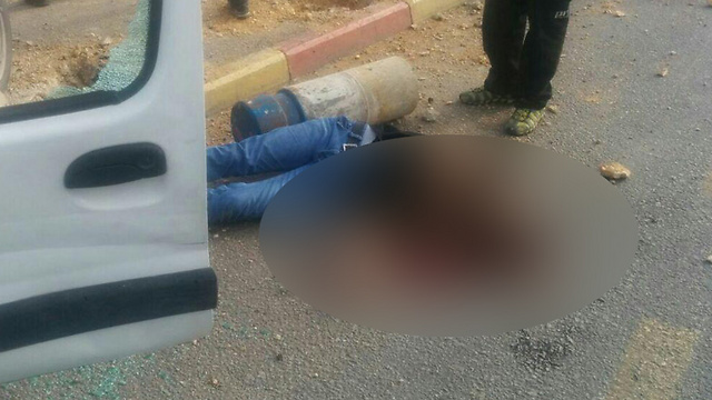 The driver and perpetrator of the vehicular attack in Gush Etzion. (Photo: TPS)