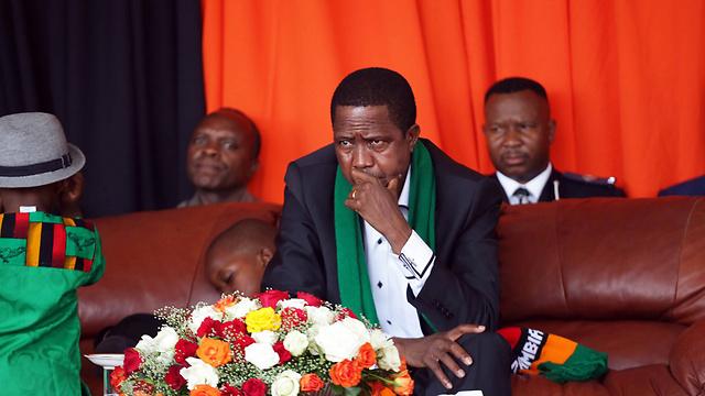 נשיא זמביה באירוע התפילות הגדול (צילום: AFP)