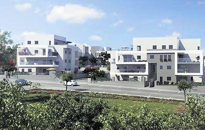 """למעוניינים: נותרו לשיווק דירות גן בשטח של 130 מ""""ר + גינה בשטח של 155 מ""""ר, במחיר של החל מ3.05 מיליון שקל. בנוסף, פנטהאוז 6 חדרים בשטח של 148 מ""""ר + מרפסת בשטח של 91 מ""""ר, החל מ3.4 מיליון שקל (הדמיה: עירית מודיעין)"""