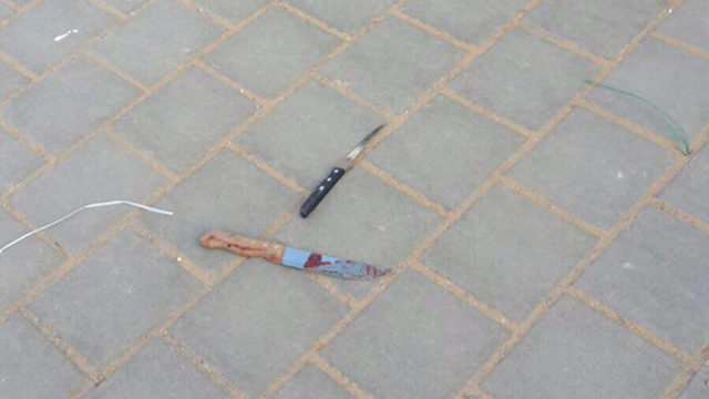 Knives used by the attackers