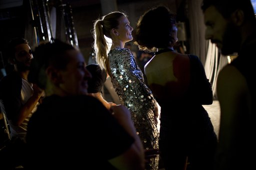 Bar Refaeli at Israel fashion week (Photo: Oded Balilty)
