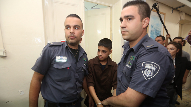 Ahmed Manasra, 13, who stabbed and critically wounded an Israeli teenage in East Jerusalem (Photo: Gil Yohanan)