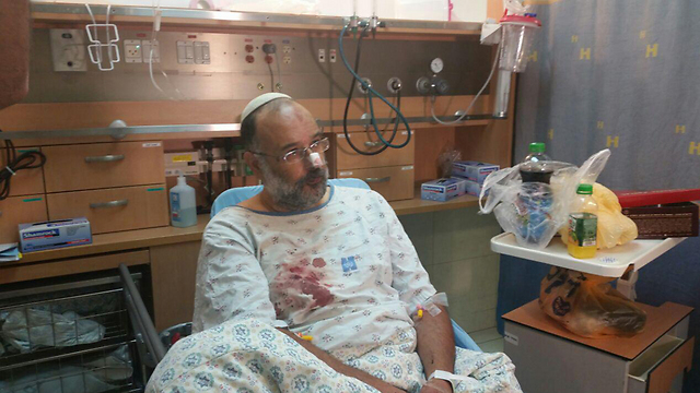 Israel Ben-Aharon, who was wounded in the attack.