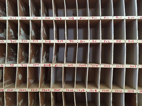 תאי הדואר נראים עכשיו כך (צילום: איתי סיקולסקי)