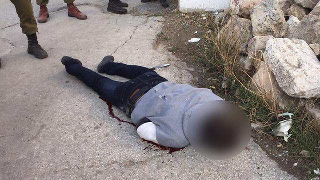 המחבל שחוסל בחברון. לא הצליח לפגוע (צילום: דיווחי לכיש tps) (צילום: דיווחי לכיש tps)