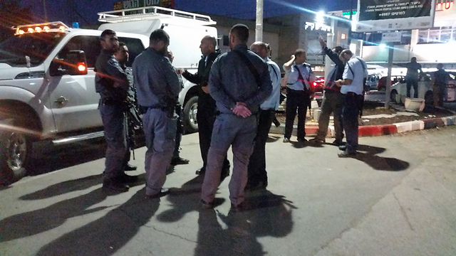 """They've known better days."" The scene following a stabbing attack in Gush Etzion on Wednesday. (Photo: Eli Mendelbaum)"