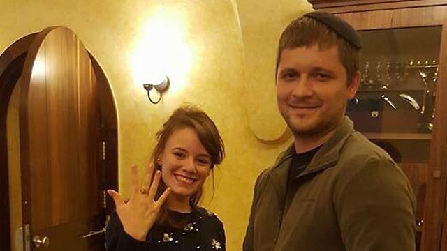 בני הזוג לאחר הצעת הנישואים (צילום: חזיון אור קולי לגעת בנצח) (צילום: חזיון אור קולי לגעת בנצח)