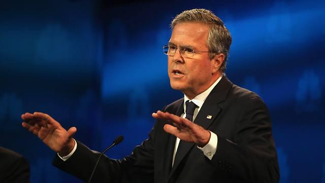 ג'ב בוש בעימות הלילה (צילום: AFP) (צילום: AFP)