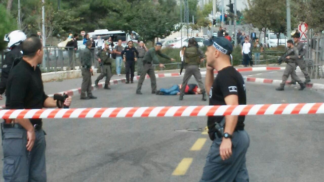 Scene of the Jerusalem attack