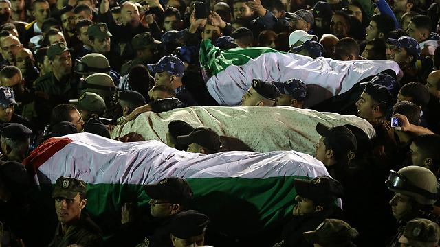 Bodies of terrorists returned by Israel (Photo: EPA) (Photo: EPA)