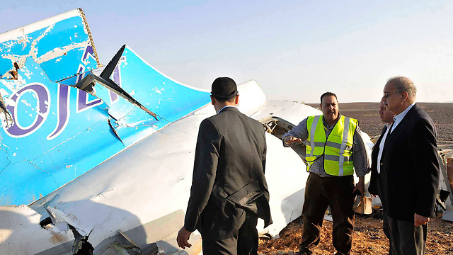 אירוע שגרם נזק גדול לכלכלה. זירת התרסקות המטוס הרוסי בסיני, 2015 (צילום: AP)