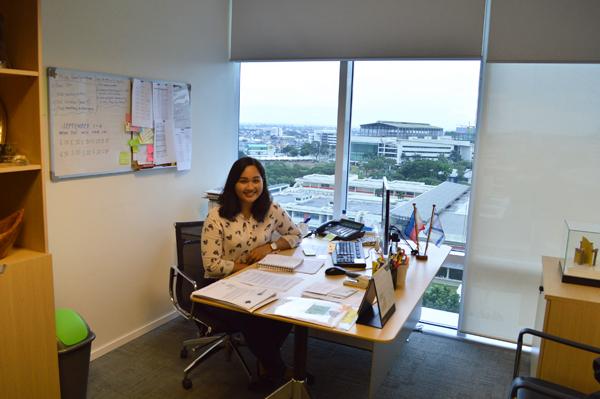 המשרד של עוזרת השגריר, ג'יאנה בראניס (צילום: שי ילין)