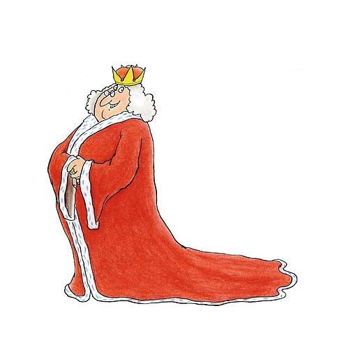 מלך נערץ שמחוקק חוקים מטופשים (איור: יוסי אבולעפיה)