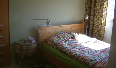 חדר השינה לפני השיפוץ