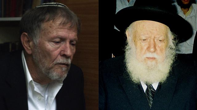 הרב אברהם אלקנה שפירא ויהודה מור (צילום: דורון גלבוע-דאום) (צילום: דורון גלבוע-דאום)