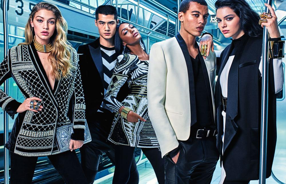 H&M x Balmain. מביאים את האסתטיקה הזוהרת של בית האופנה להמונים (צילום: הנס מוריץ)
