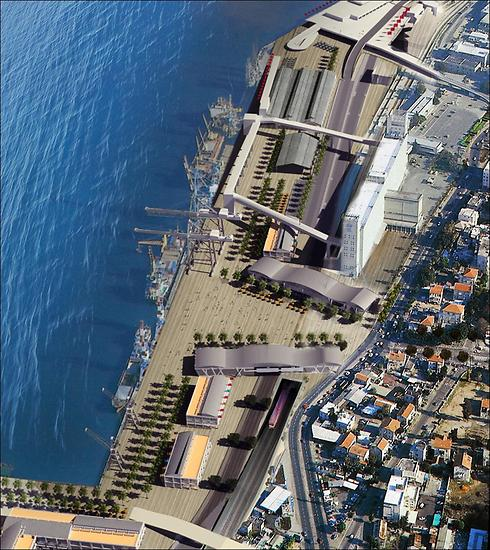 הדמיית חזית הים העירונית בחיפה (הדמייה)