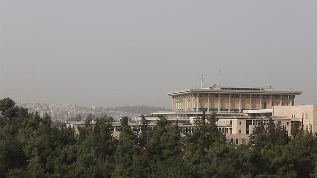 אביך באזור הכנסת בירושלים (צילום: גיל יוחנן) (צילום: גיל יוחנן)