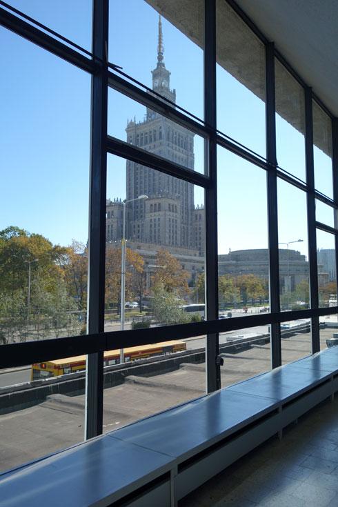 ארמון התרבות והמדע, מבט מהמוזיאון לאמנות מודרנית (צילום: מיכאל יעקובסון)