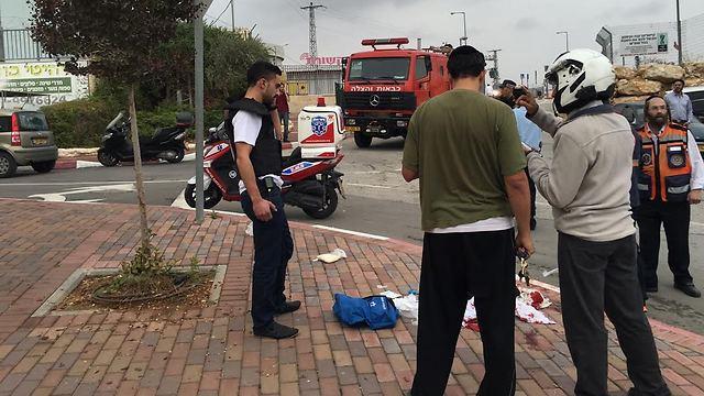 Scene of the attack in Sha'ar Binyamin. (Photo: Hatzola)