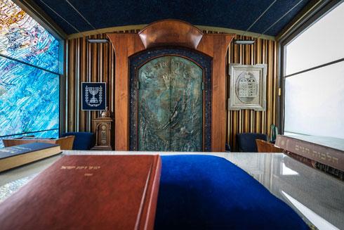 בית הכנסת בבית הנשיא, עידן רובי ריבלין. נבון סילק אותו משם (צילום: איתי סיקולסקי )