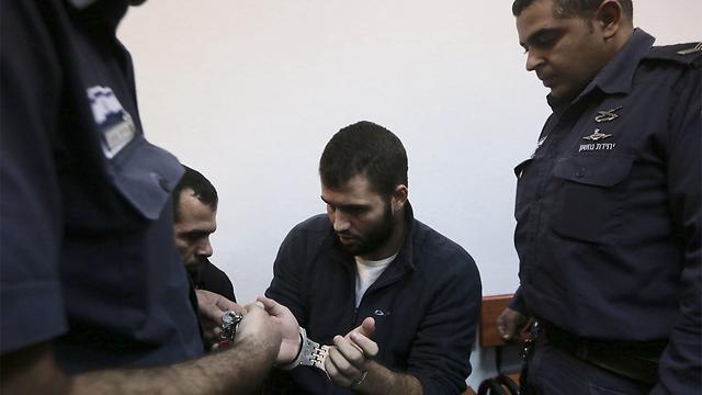 הנאשם בילאל אבו גאנם, היום בבית המשפט (צילום: גיל יוחנן) (צילום: גיל יוחנן)