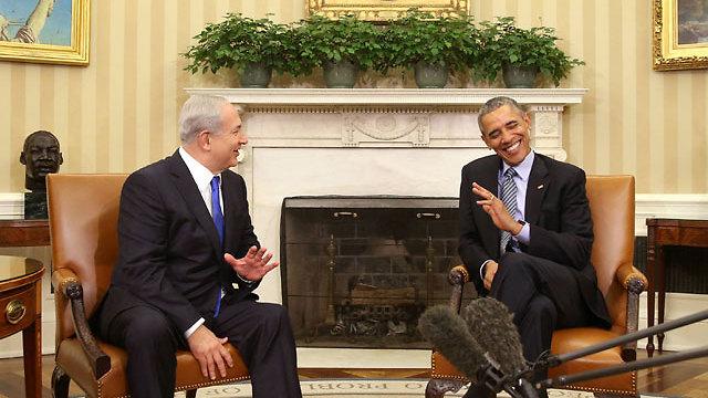 Netanyahu and Obama meet at the White House (Photo: AP)