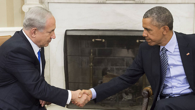 Prime Minister Netanyahu and President Obama (Photo: AFP) (Photo: AFP)