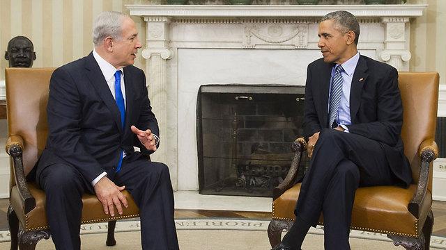 """נשיא ארה""""ב אובמה וראש הממשלה נתניהו (צילום: AFP) (צילום: AFP)"""
