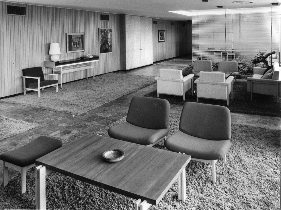 פנטהאוז צ'רלס קלור, רחובות, שנות ה-60. מתוך הפריטים שנסרקים לספריית הרווארד (באדיבות ארכיון אדריכלות ישראל)