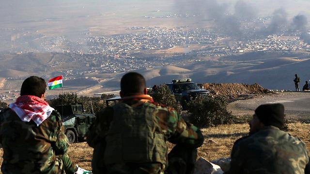 לוחמים כורדים הפועלים נגד דאעש (ציום: AFP) (ציום: AFP)