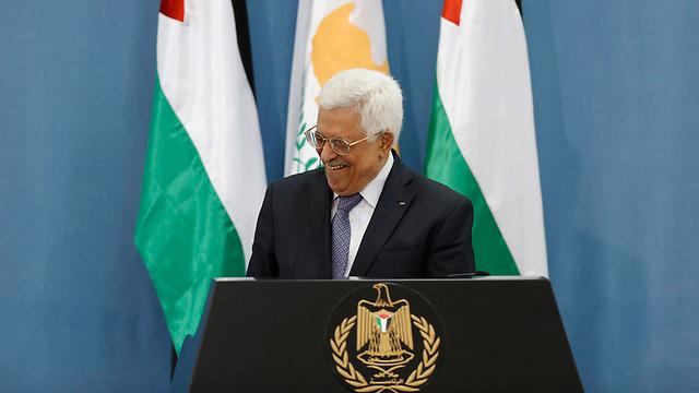 Abbas at Friday's press conference. (Photo: EPA)