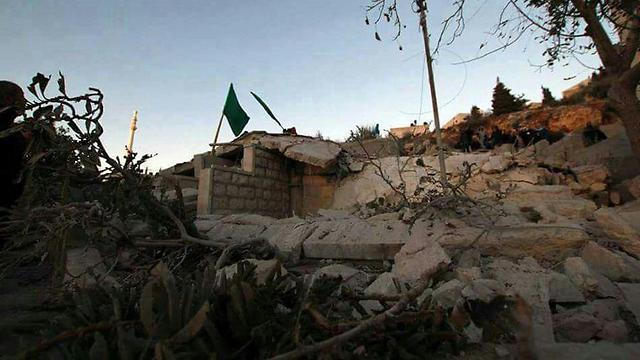 Demolition of a Palestinian terrorist's home in Silwad.