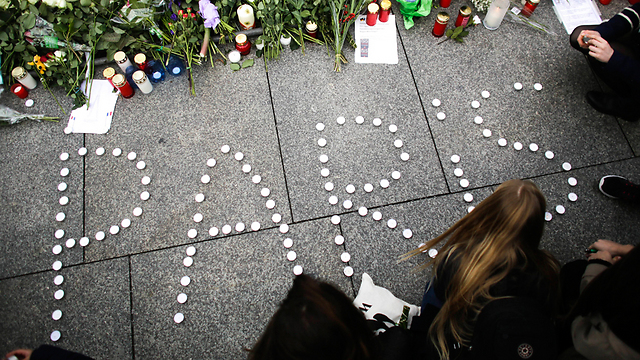 A support demonstration outside the French Embassy in Berlin following a terrorist attack (Photo: AP)