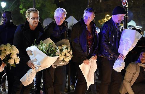 חברי U2 במועדון הבטקלאן (צילום: AFP) (צילום: AFP)