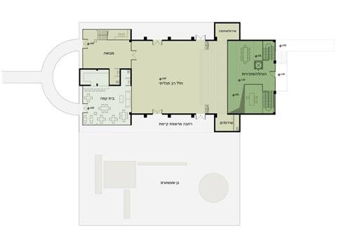 תוכנית קומת הכניסה בהצעה של סטודיו 826 (הדמיה: סטודיו 826)