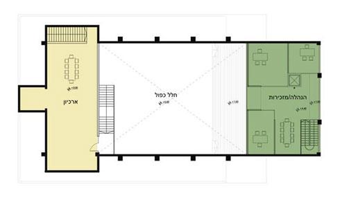 תוכנית קומת הגלריה (הדמיה: סטודיו 826)