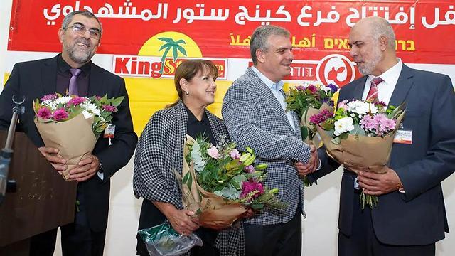 עבדאללה משהדאווי, אבי לוי, ליאורה עופר, חאג' סאן סלאח (צילום: אנצו גוש)