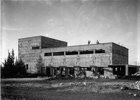 בית העם בתקופת הקמתו, 1930 (באדיבות ארכיון מושב נהלל)