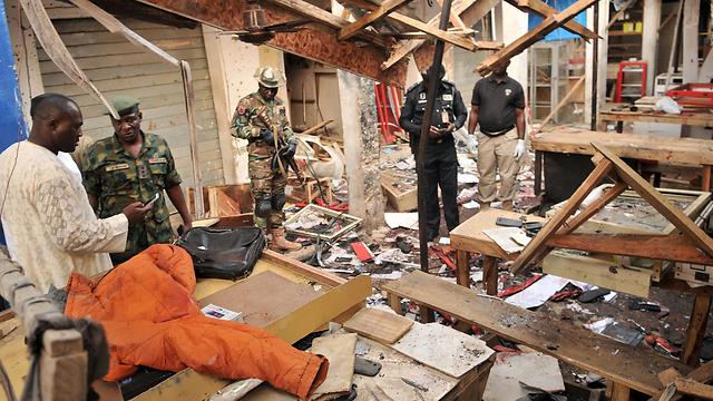 זירת הפיגוע בשוק לטלפונים ניידים (צילום: רויטרס) (צילום: רויטרס)