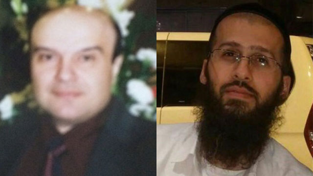 The two victims (from left): Aharon Yisayev and Reuven Aviram.